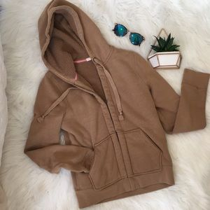 J. Crew Teddy Bear Brown Sherpa Hoodie Small